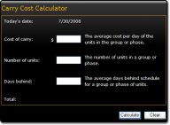 Carry Cost Calculator